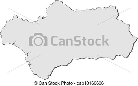 Vector Clipart of Map of Andalusia (Spain).