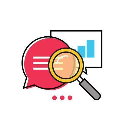 Data Analytics Vector Icon, Analyzing Information Statistic, Search.