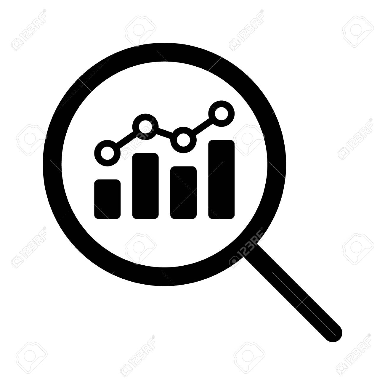 View financial analytics or metrics research line art vector...