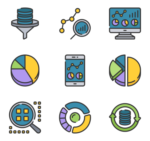 85 data analytics icon packs.