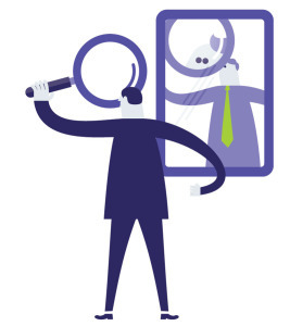 Reflection clipart self analysis, Reflection self analysis.