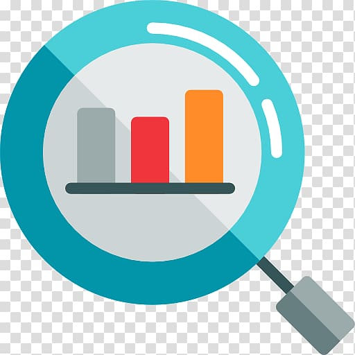 Blue, red, and orange graph icon, Digital marketing Search.