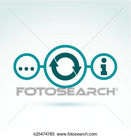 Information analyzing collecting an Clipart.
