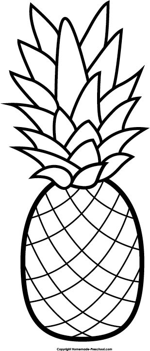 Pineapple clipart free clip art hair image #4877.