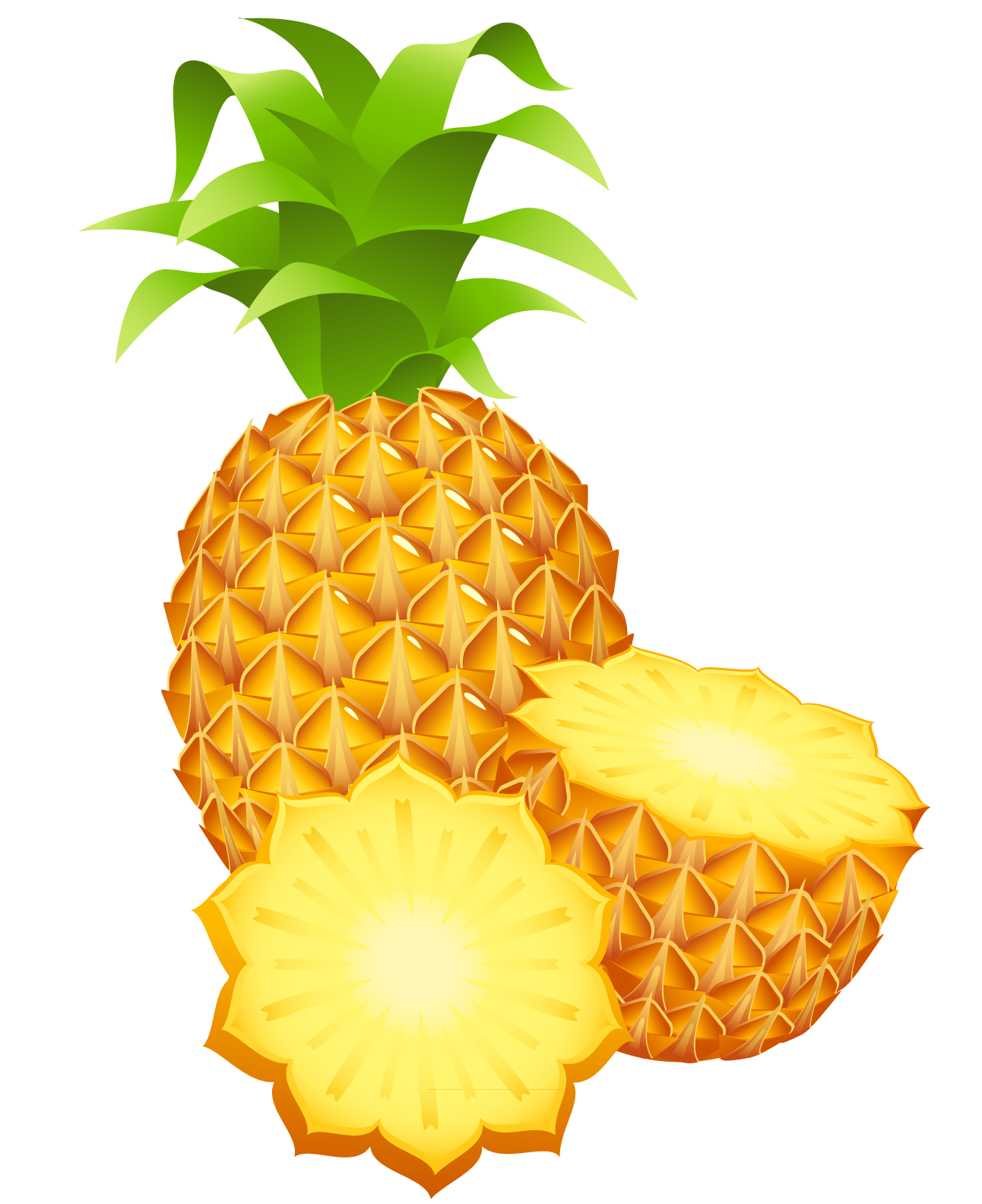 Pineapple PNG images free pictures download.