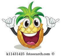 Pineapple Clip Art Vector Graphics. 7,280 pineapple EPS clipart.