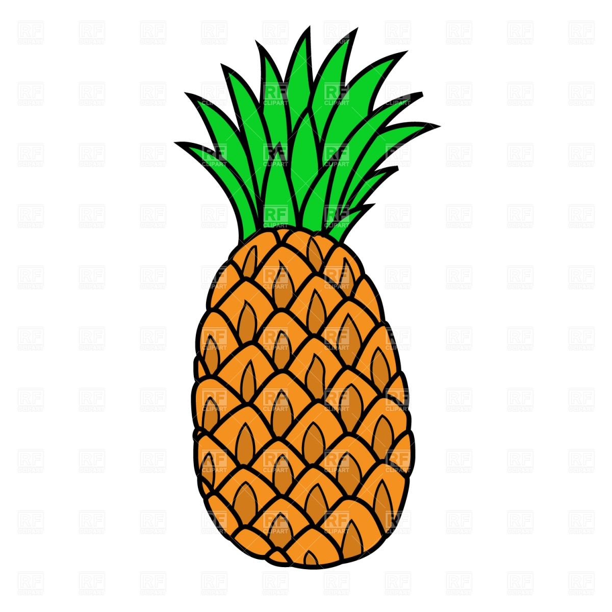 Pineapple clipart - Clipground