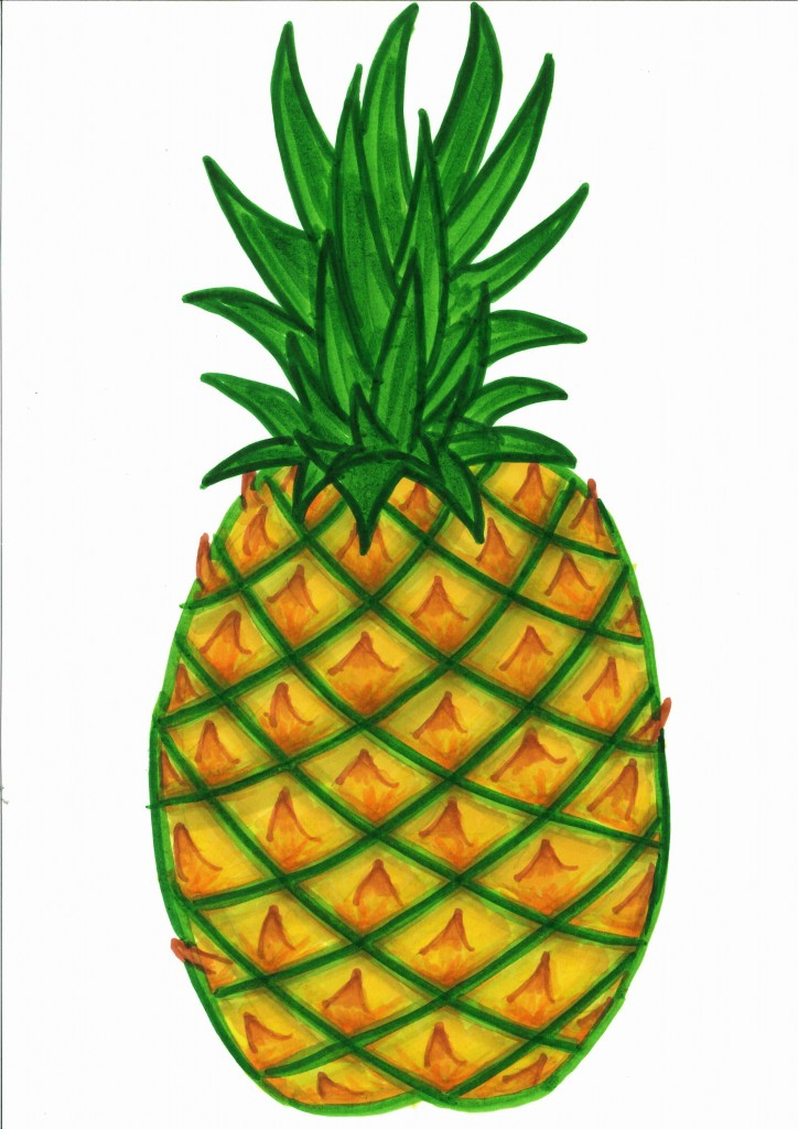 Pineapple clip art free free clipart images.