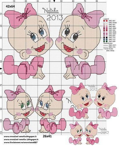 Схема для вышивки крестом метрики для девочки 70