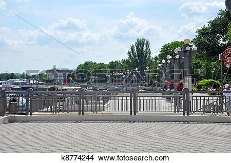 Stock Photo of Quay, the city of Anapa, Russia k8774244.