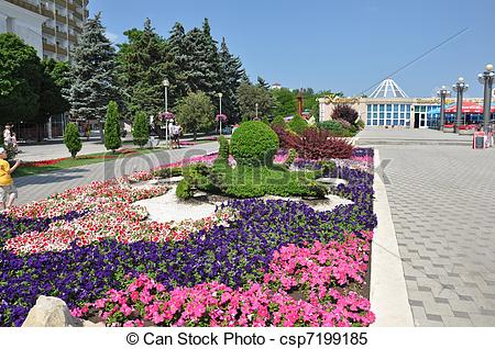 Stock Images of Quay, the city of Anapa, Russia csp7199185.