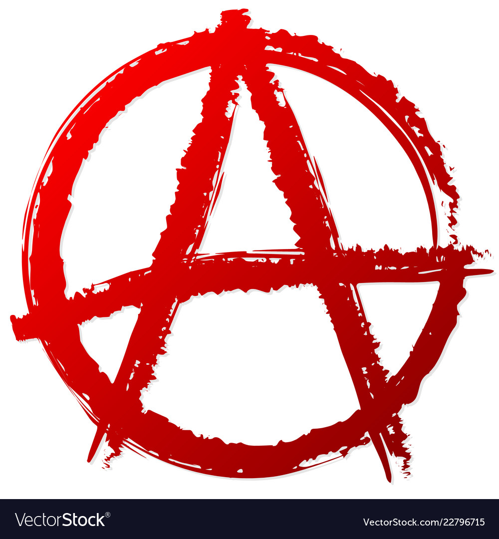 Anarchy symbol or sign anarchy punk anarchism.