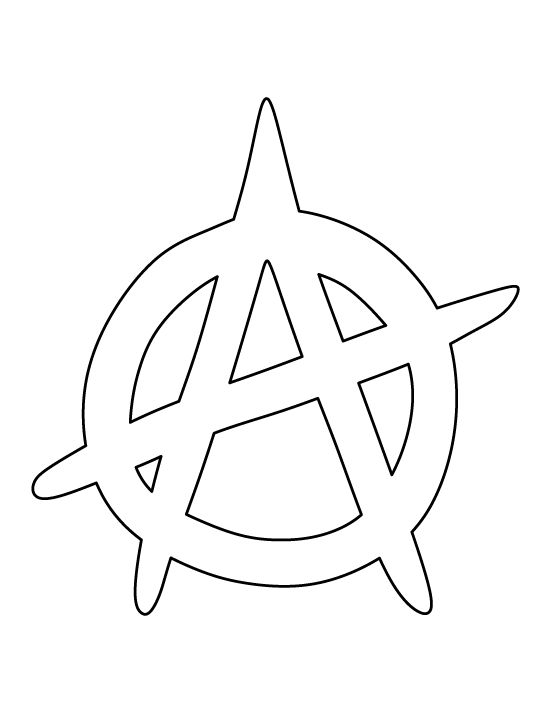 Anarchy symbol clipart.