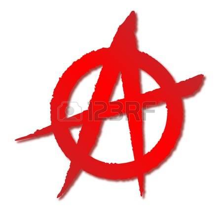 Anarchy symbol clipart.