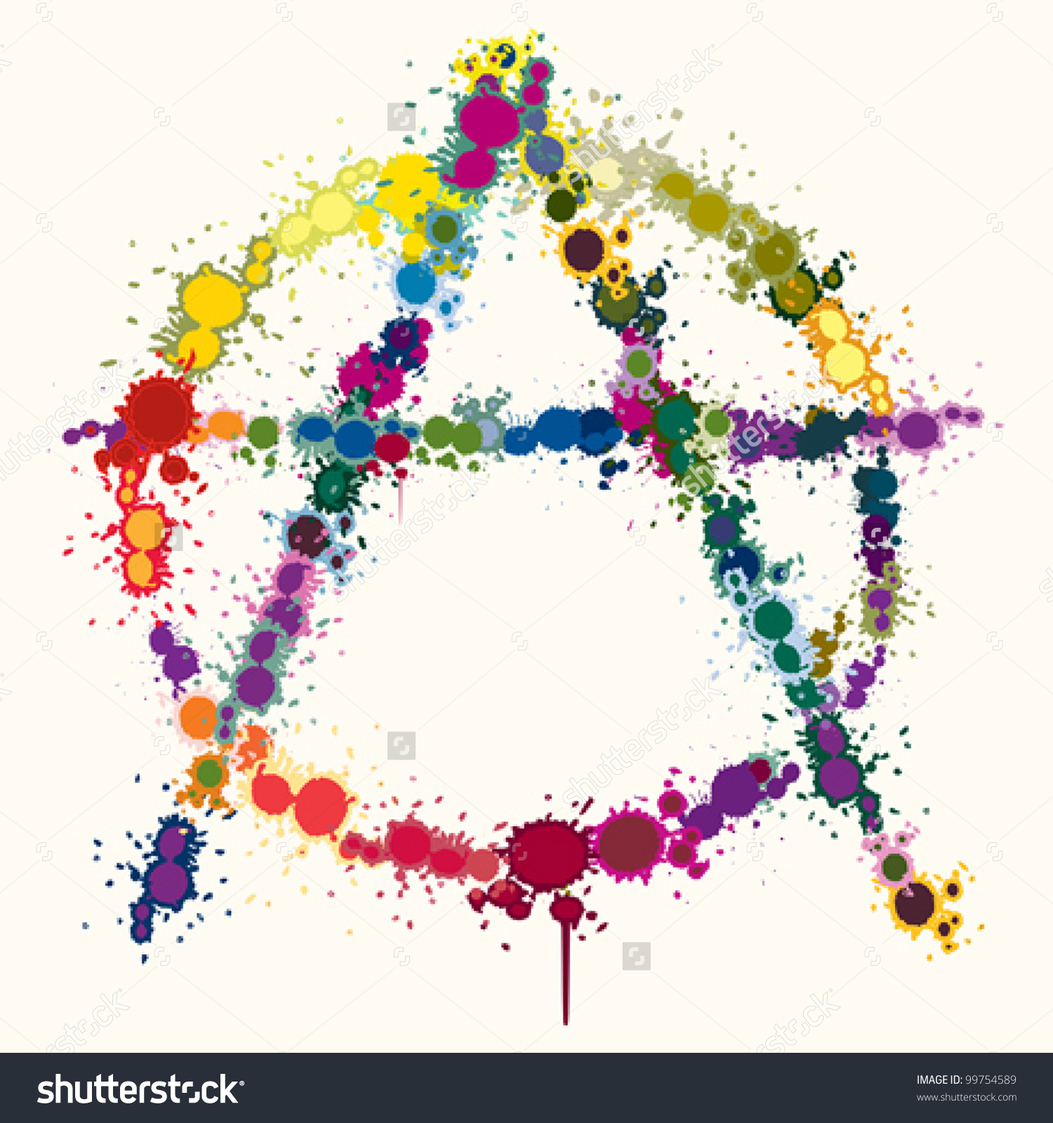 Rainbow Color Anarchy Symbol Background Stock Vector 99754589.