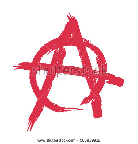 Anarchist Symbol Stock Images, Royalty.