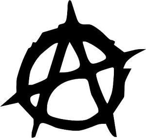 "Anarchy Decal 3.75""x4"" choose color! vinyl sticker A3."