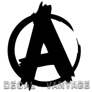 Anarchy Symbol Style B Vinyl Sticker Decal JDM Punk.