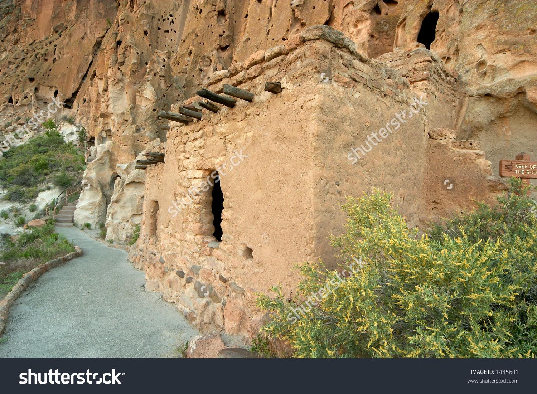 Anasazi Ruins In New Mexico Near Los Alamos Stock Photo 1445641.