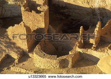 Stock Image of The Cliff Palace at Anasazi Indian ruins u13323665.