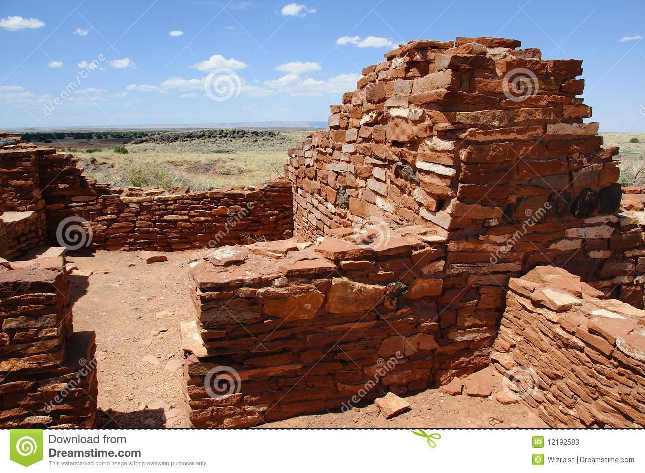 Ancient Ruins Of Anasazi Tribe Stock Photos.