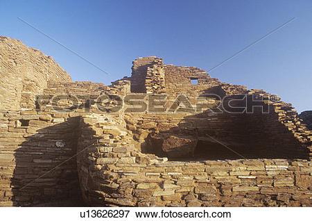 Picture of Adobe brick walls, circa 1100 AD, Citadel Pueblo Indian.