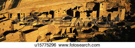 Stock Images of Cliff Palace in the Anasazi Indian Ruins u15775296.