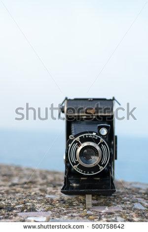 Camera Folding Isolated Old Stock Photos, Royalty.