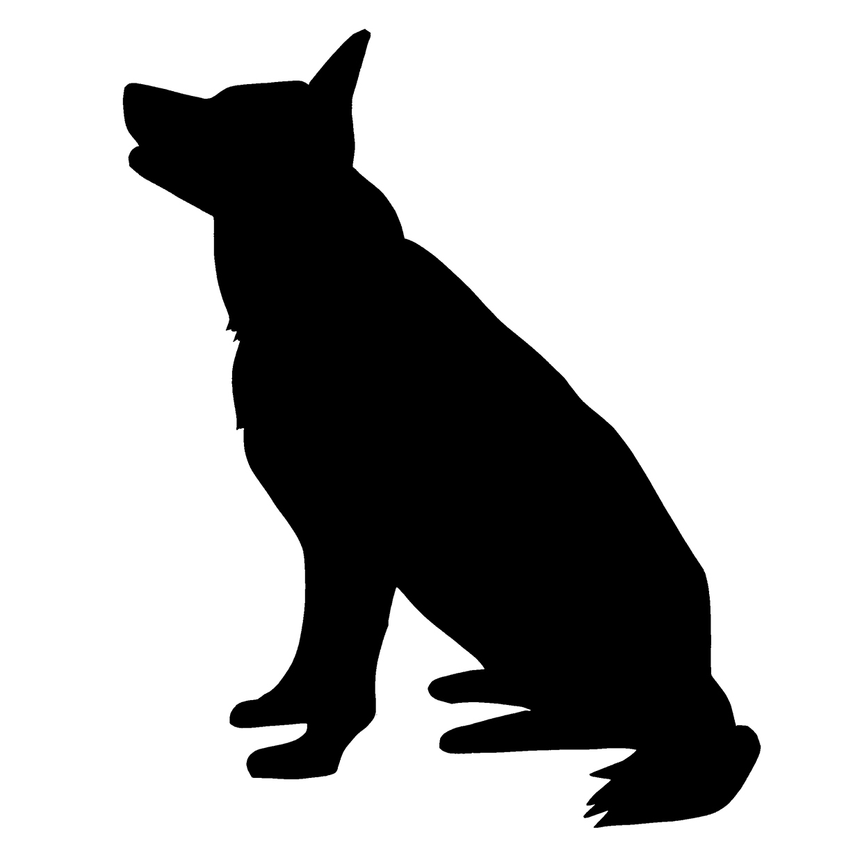 Pakistani shepherd dog clipart.