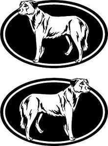 2 ANATOLIAN SHEPHERD dog oval breed car windows RIGHT & LEFT.