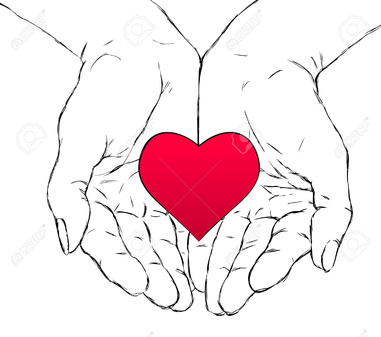 Hand Holding A Heart Drawing at GetDrawings.com.