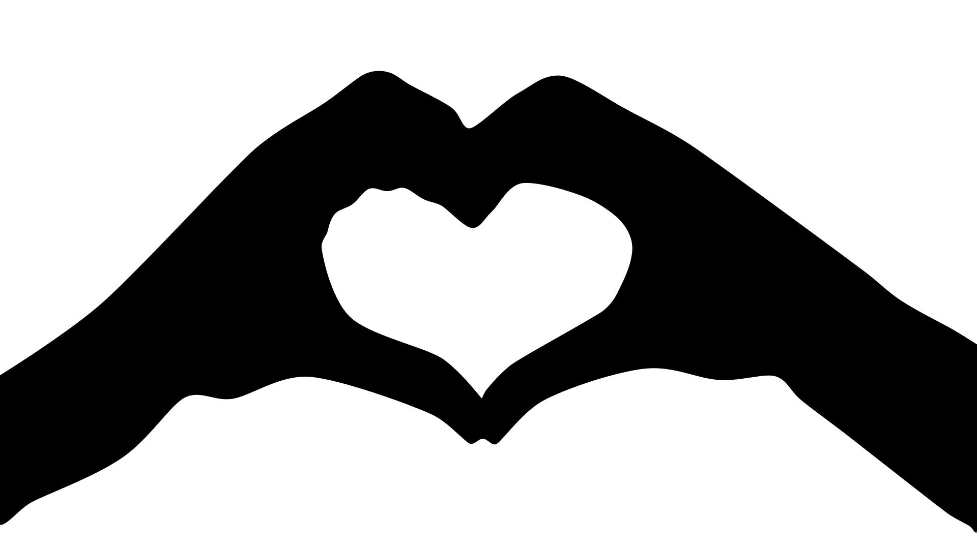 Heart Hands Silhouette at GetDrawings.com.