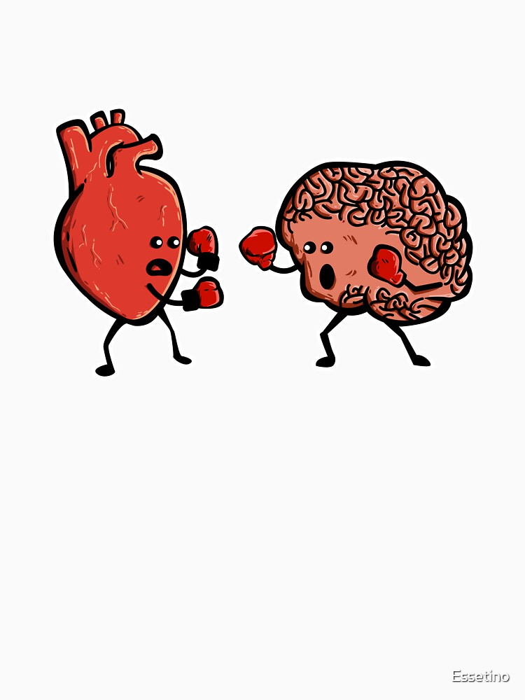 Heart and Brain Boxing Mind Funny Anatomy RN Doctor Nurse.