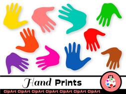 Free Kids Clip Art Hand Prints by PrawnyArt.