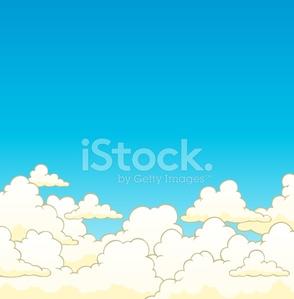 Bewölkten Himmel Hintergrund 6 premium clipart.