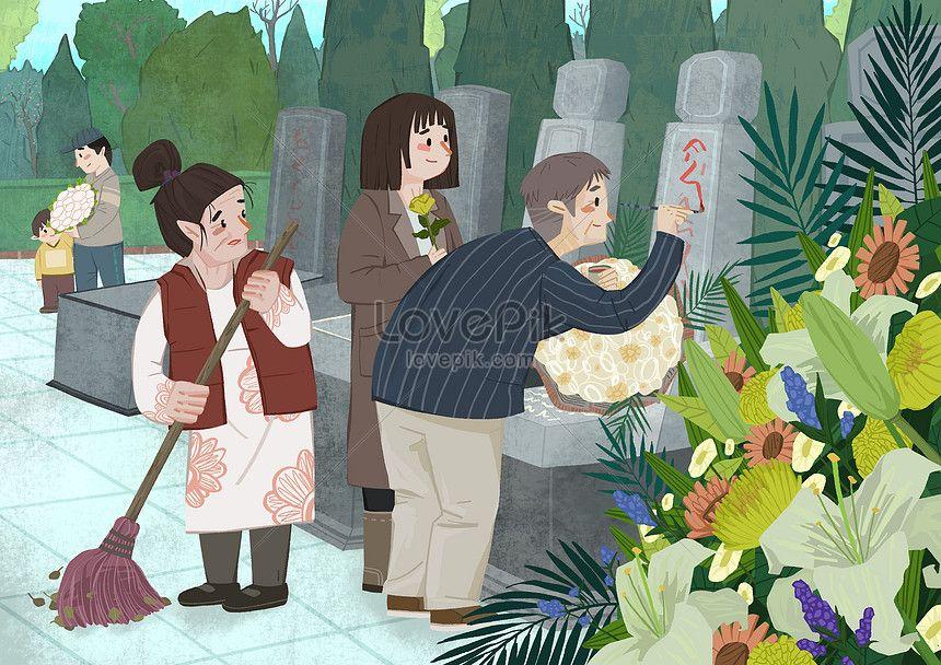 2019 的 tomb sweeping for ancestors in the qingming dynasty.