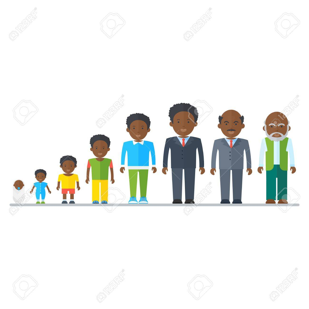 Aging concept of African American male characters. Family dynasty.