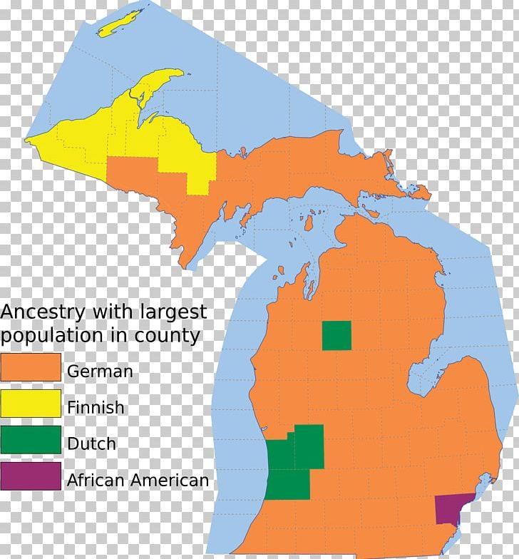 Michigan Ancestor Map European Americans Genealogy PNG.