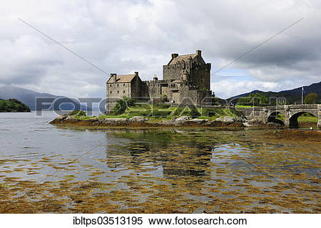 "Stock Image of ""Eilean Donan Castle on Loch Alsh, the ancestral."