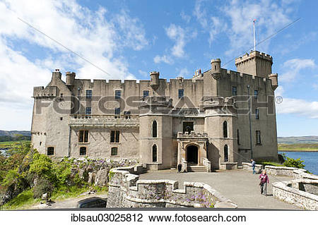 """Stock Photo of """"Dunvegan Castle, ancestral seat of Clan McLeod."""