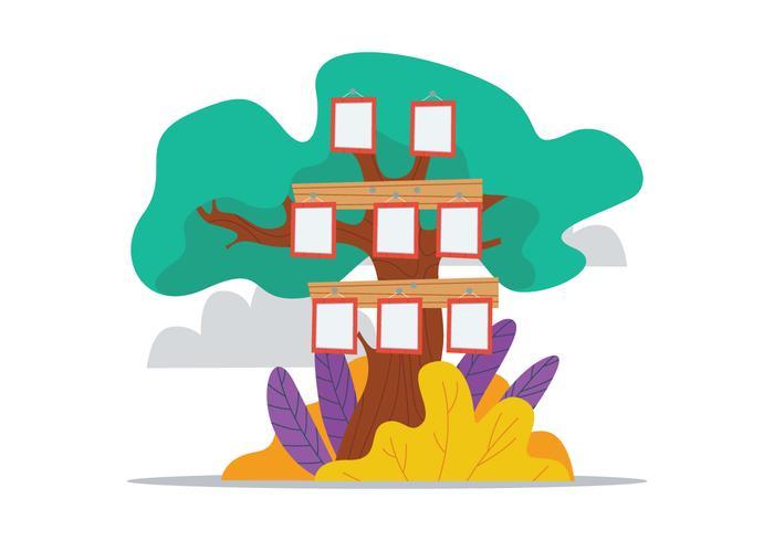 Family Tree Illustration.