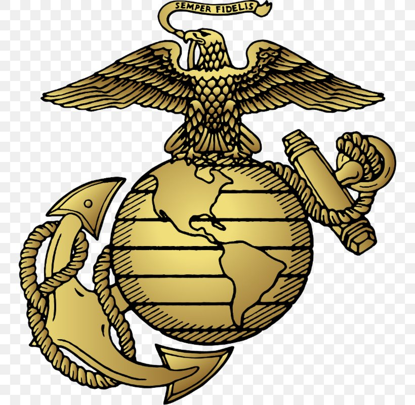 United States Marine Corps Eagle, Globe, And Anchor Marines.