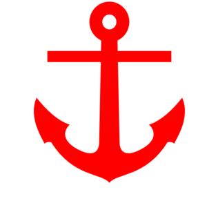 Red Anchor clip art.