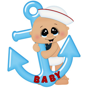 baby boy sailor with anchor.