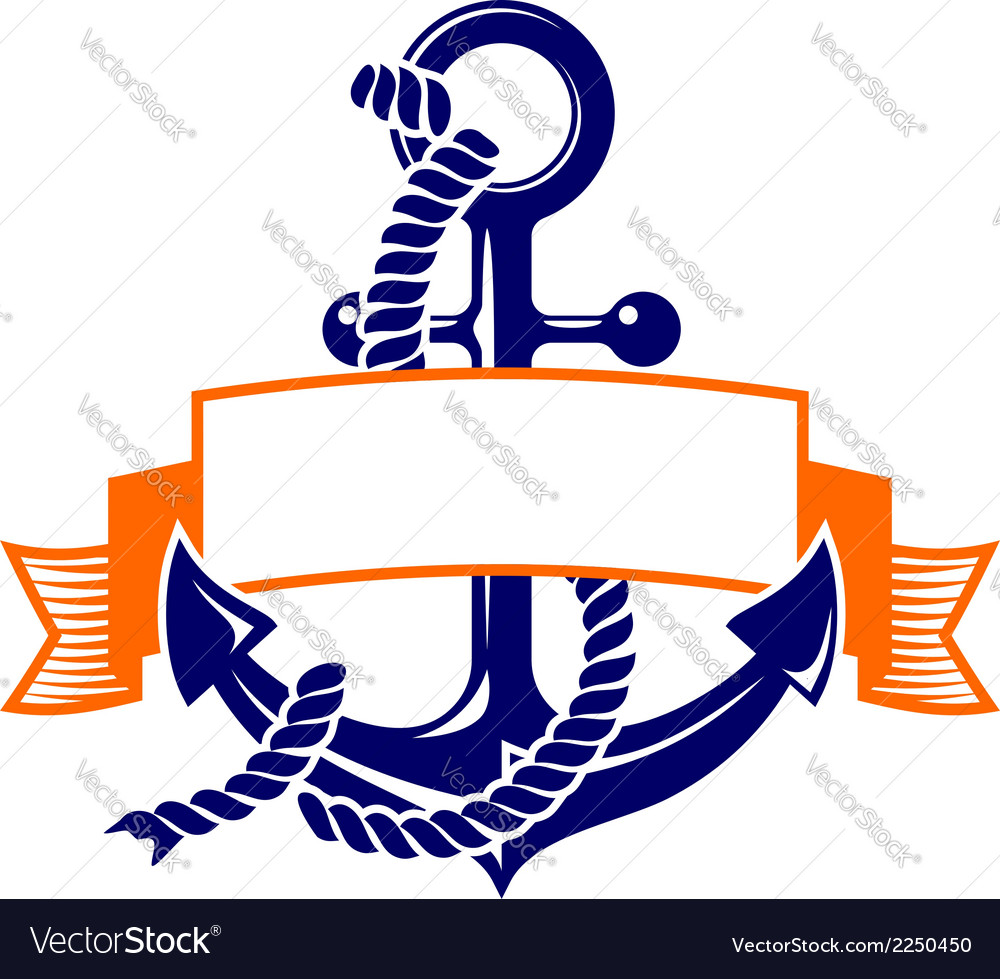 Anchor with a banner symbol.