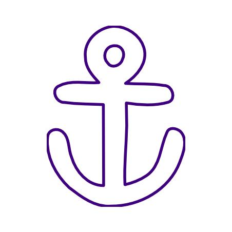 Anchor Outline Clipart.