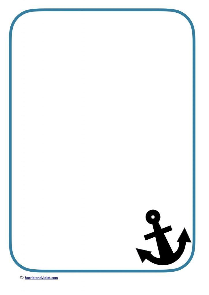 Anchor A4 border paper.