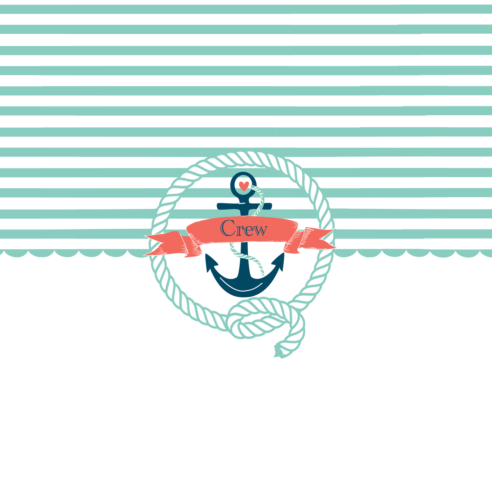 Rope Anchor Border Clipart.
