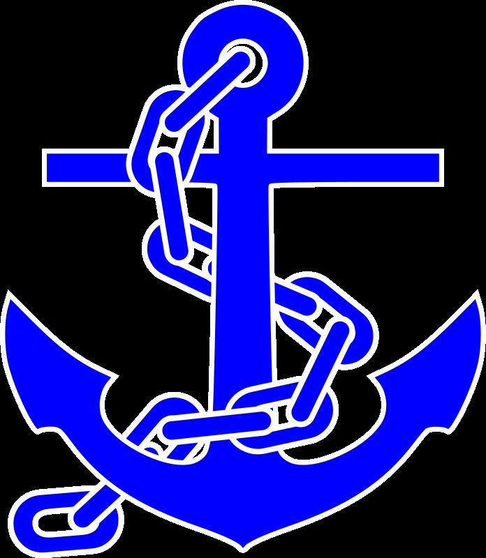 Blue anchor clipart.