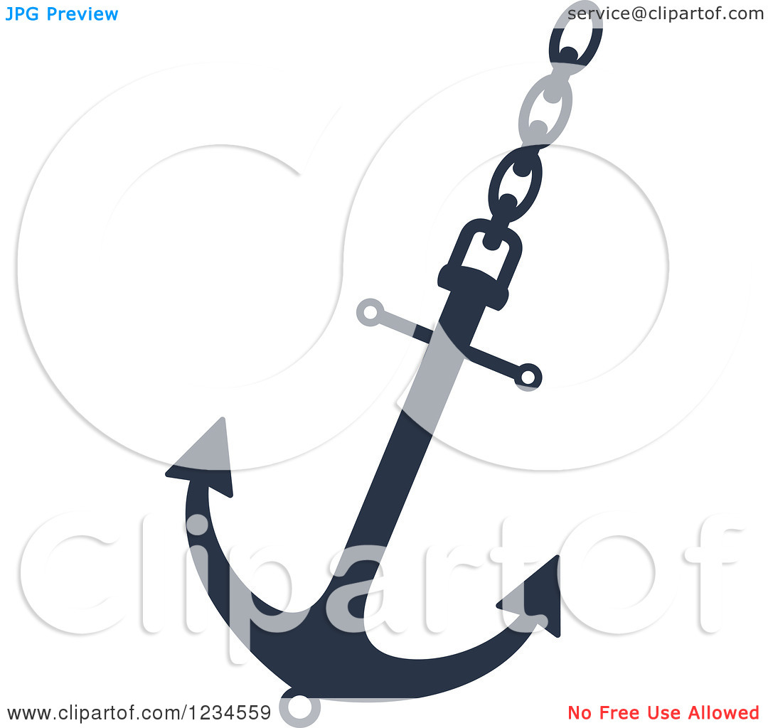 Anchor chain clipart #13